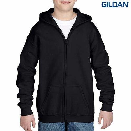 Gildan 18600B Heavy Blend Youth Full Zip Hooded Sweatshirt