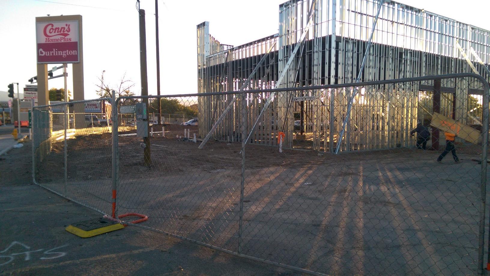 Corner Building Construction