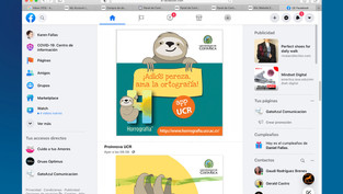 redes sociales Horrografia, UCR