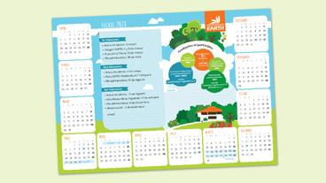 Calendario de Escritorio para estudiantes EARTH