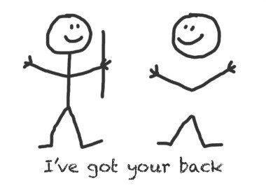 Do You Need Someone Who Has Got Your Back? blog article by Karan Scott Coaching | Kettering 01536 601749