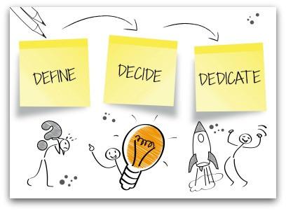 Define Decide Dedicate blog article by Karan Scott of Karan Scott Coaching | Kettering 01536 601749