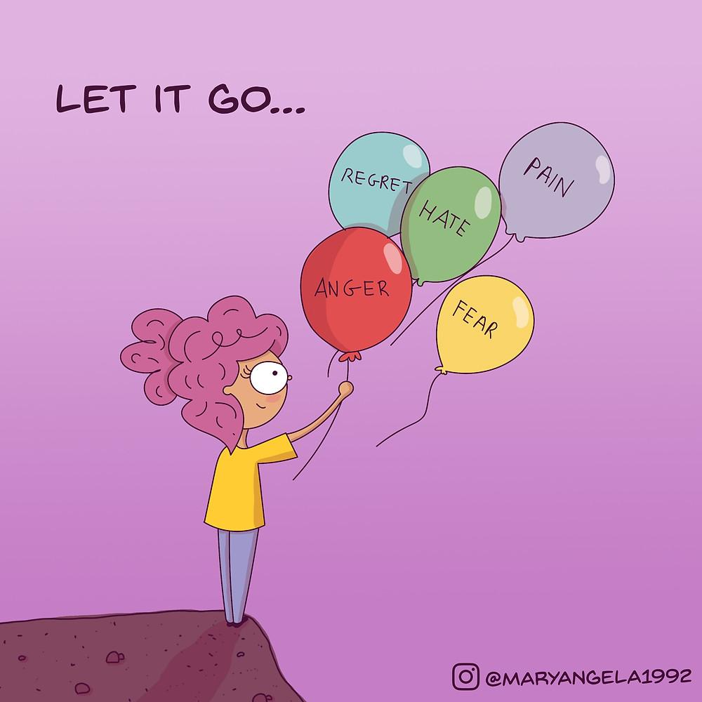 You Have To Let That Sh*t Go! blog article by Karan Scott of Karan Scott Coaching | Northants 01536 601749
