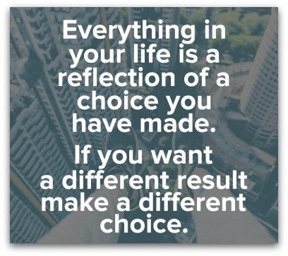 Everything You Experience Is A Result Of A Choice You Made blog article by Karan Scott Coaching | Kettering 01536 601749