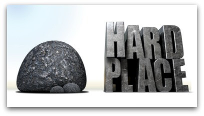 The Great Escape From Between A Rock & A Hard Place blog article by Karan Scott of Karan Scott Coaching | Kettering 01536 601749