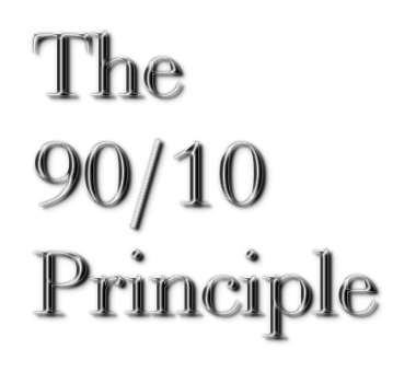 The 90/10 Principle blog article by Karan Scott of Karan Scott Coaching | Northants 01536 601749