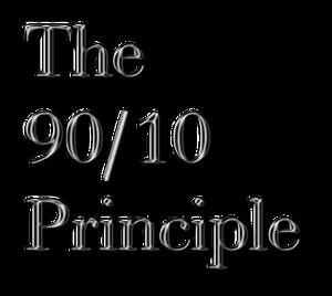 The 90/10 Principle blog article by Karan Scott of Karan Scott Coaching | Northants 01536 601749