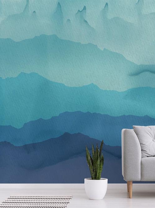 Painel de parede de montanhas