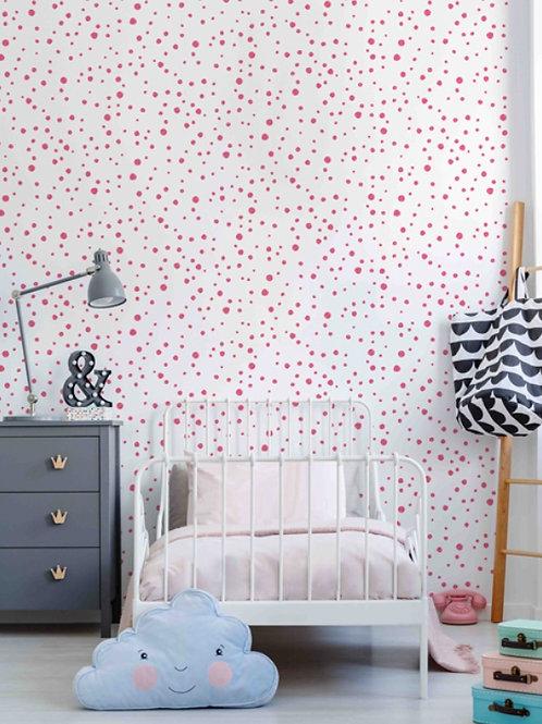 Papel de parede bolas rosa