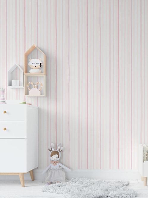 papel listra rosa