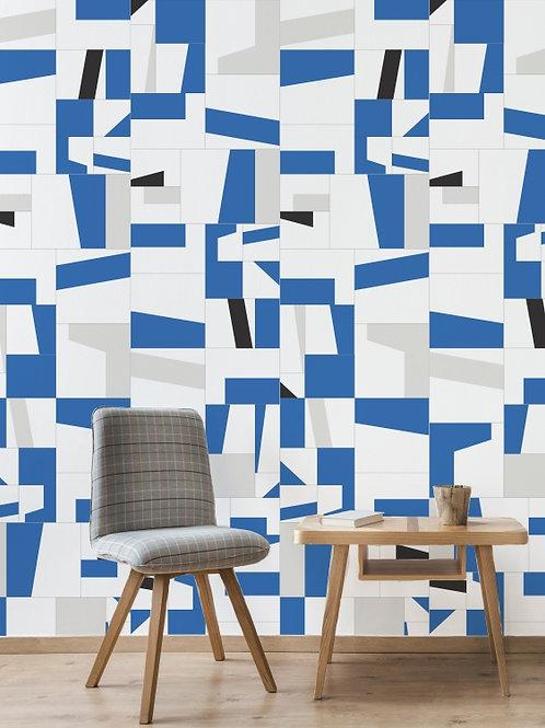 Papel de parede cacos de azulejo