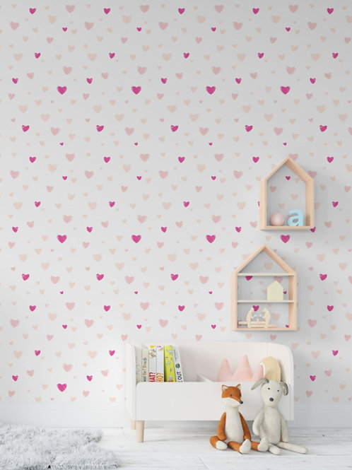 Coração rosa papel