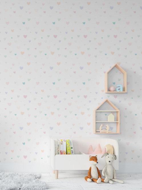 papel de parede cor pastel