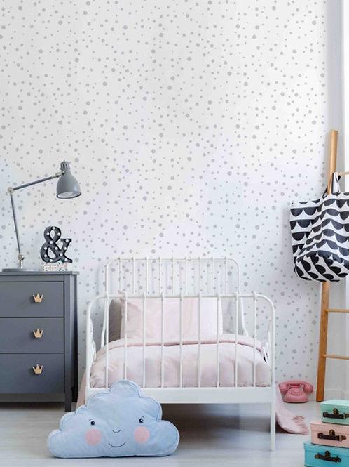 papel de parede bolinhas cinza