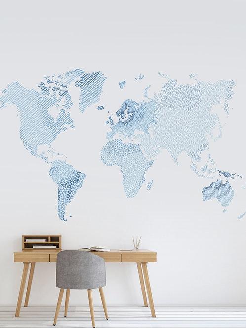 Mapa Mundi Azul