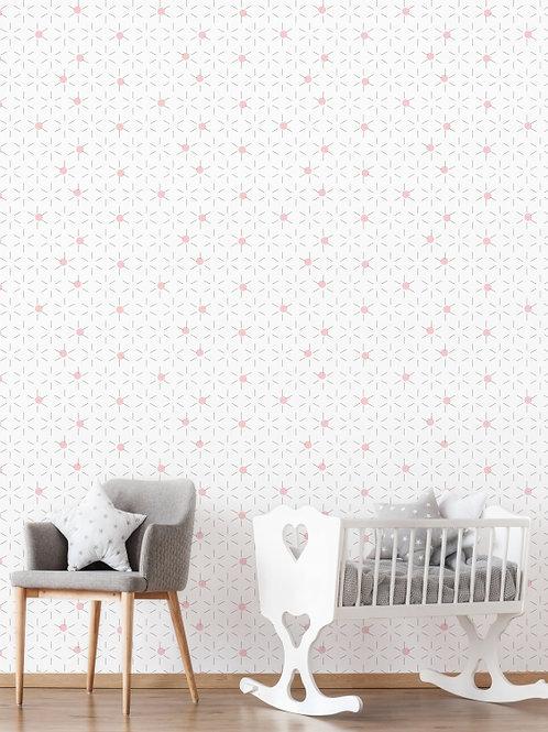Papel de parede Estrelas Rosa