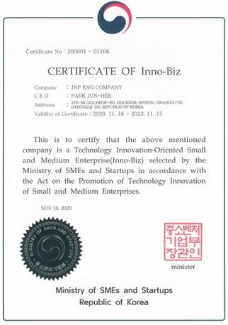 20201116~20231115-Certification-INNOBIZ(