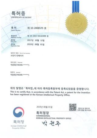 특허 제 10-2008575 호