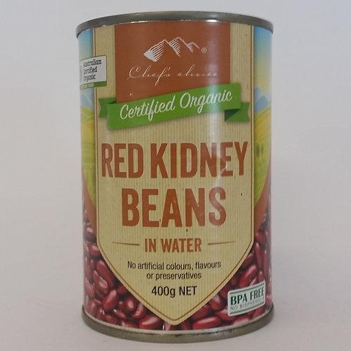 Beans, red kidney 400g tin