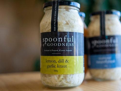 Sauekraut, lemon dill and garlic 500g