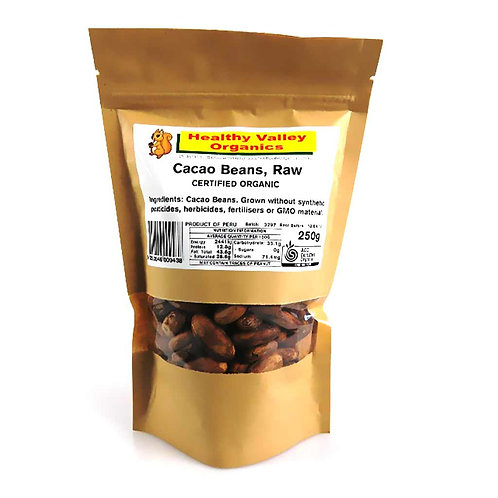 Cacao beans, raw 250g