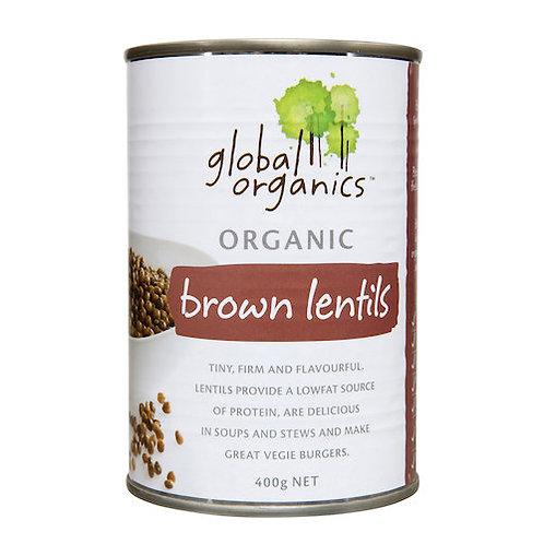 Lentils, brown tin 400g