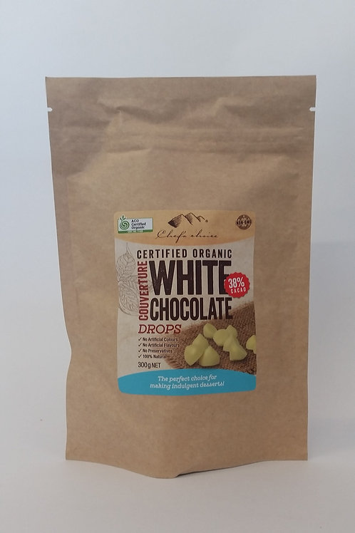 White chocolate drops 300g
