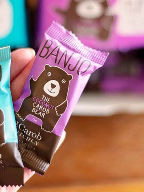 Banjo carob bear, coconut 15g