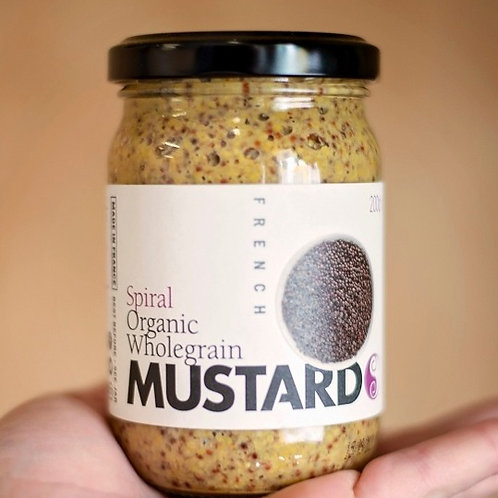 Mustard, wholegrain french 200g