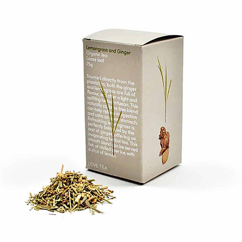 Tea, Lemongrass and ginger loose leaf 75g