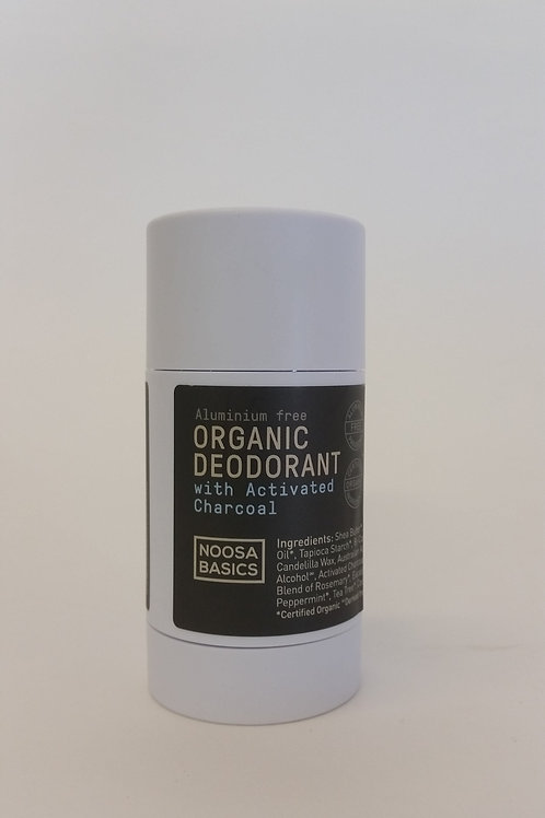 Deodorant stick with activated charcoal