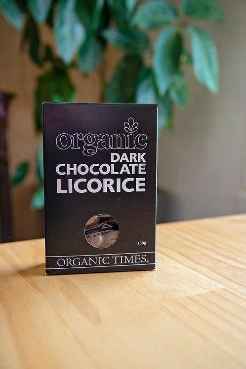 Licorice, dark chocolate coated 150g