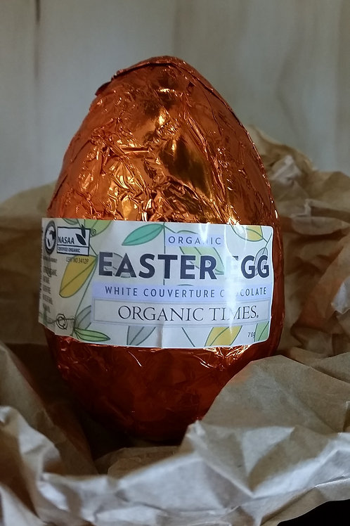 Easter egg, white chocolate 70g