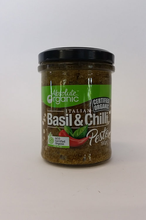 Pesto, basil and chilli, 190g