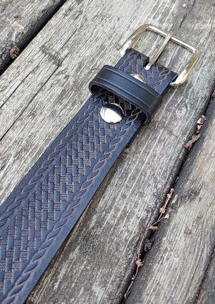 Basketweave Belt - Black