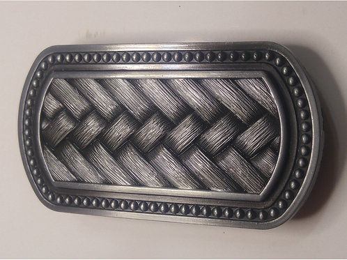 Basket Weave Belt Buckle
