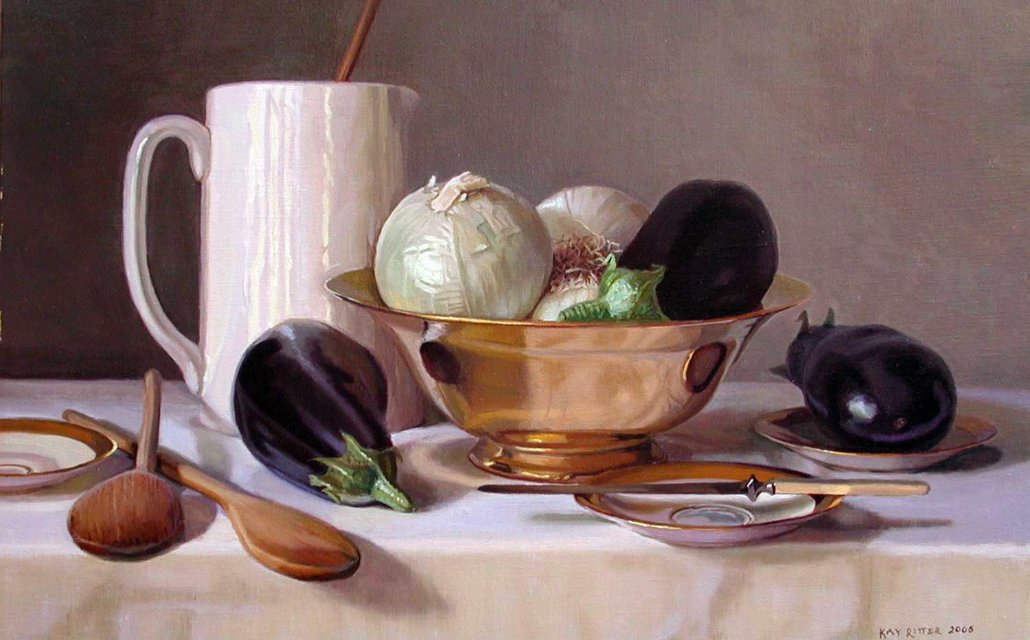 Eggplant and White Onions