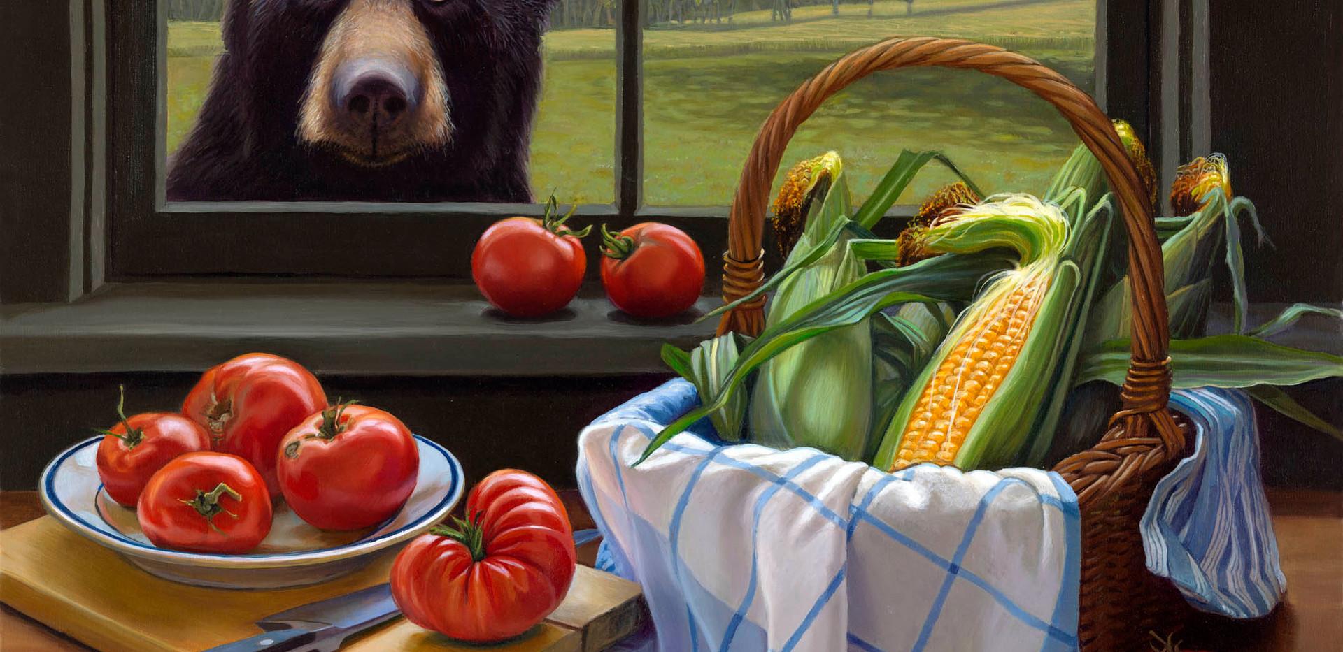 Bear, Corn and Tomatoes