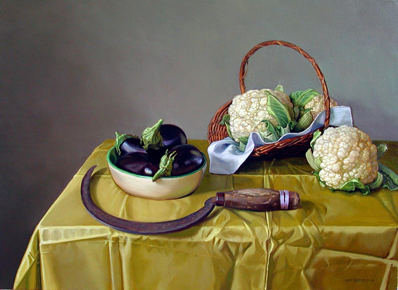 Cauliflower and Eggplant