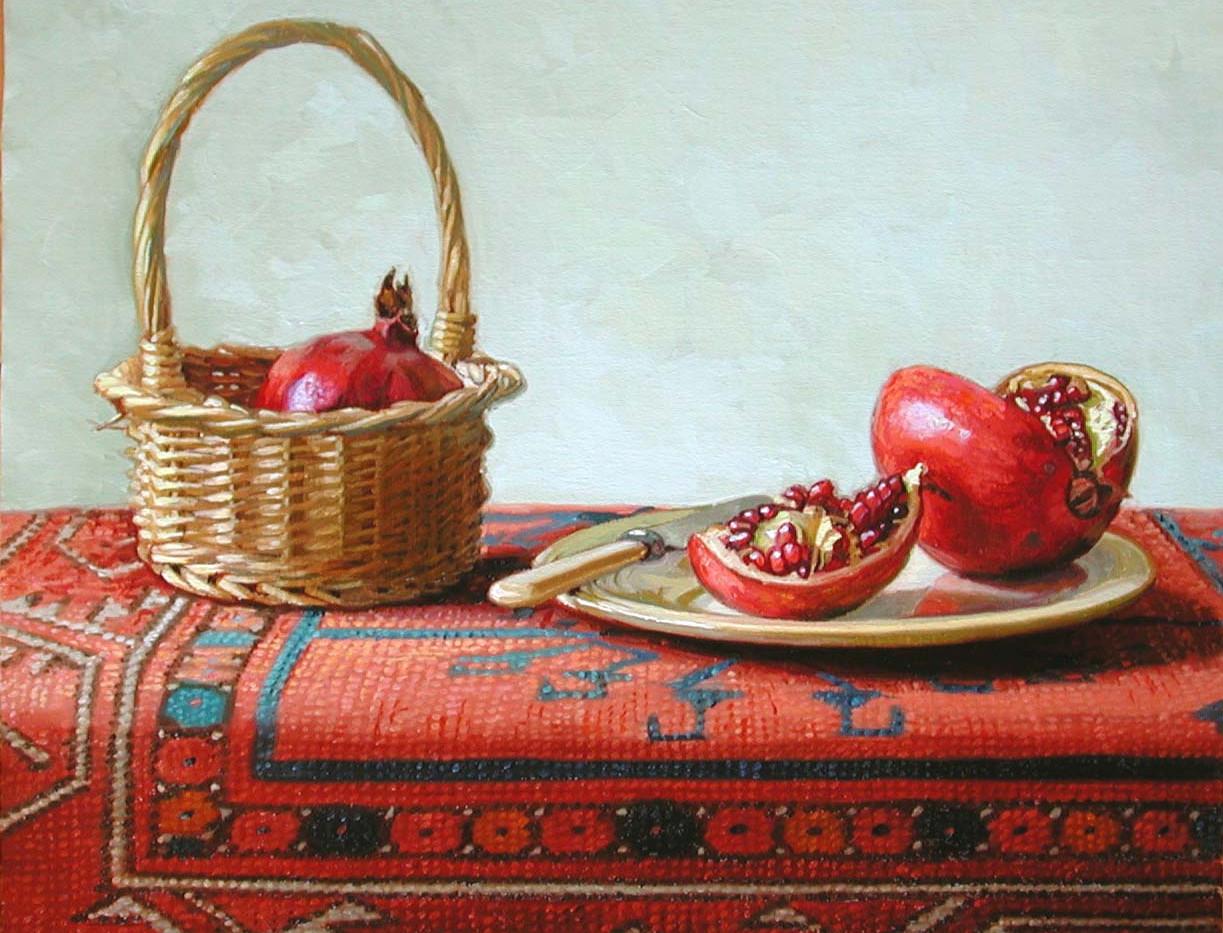 Pomegranates and Carpet