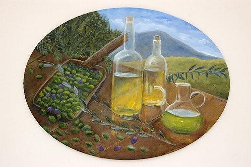 Nature Painting - Olive Harvest