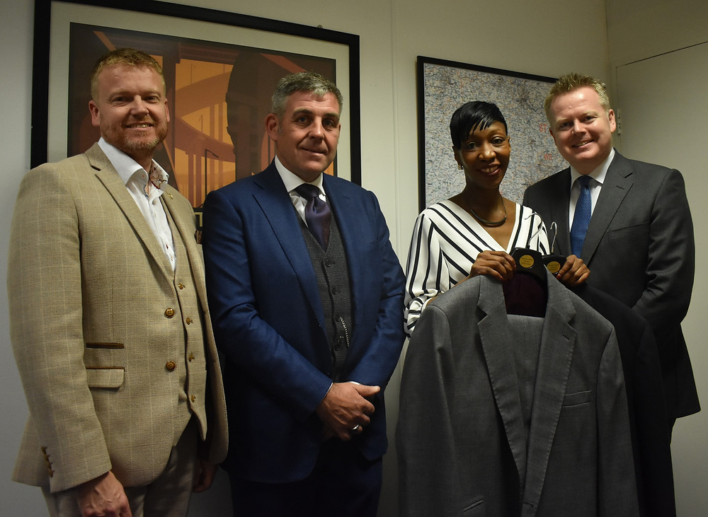 Left to right: Peter Higgs (BNI), Matt Lambeth, Patricia White ( Suited for Success, CEO) and Paul Fulkner (Greater Birmingham Chambers of Commerce, CEO)