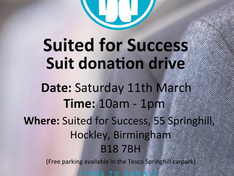 Suit donation drive - Saturday 11th March