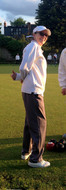 Thumbs up on the bowling green