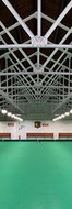 Three rink indoor bowling green