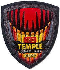Temple Bowling Club 140th Anniversary patch