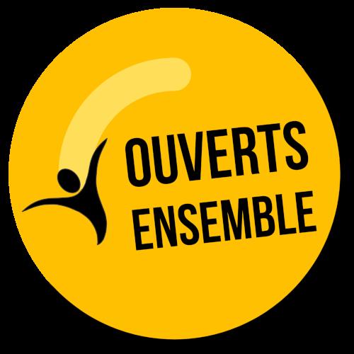 Logo Ouverts Ensemble le mouvement des commerçants et professionnels indépendants libres et déterminés