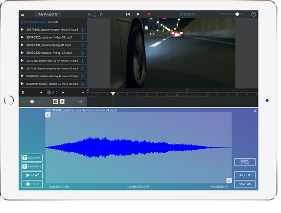 The Wave Editor in the Audio Track