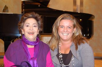 Benedetta Orsi with Teresa Berganza