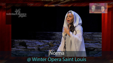 "Enjoy this ""Two on the aisle"" video review of Norma, where Benedetta is singing the main role of Adalgisa for Winter Opera St. Louis"